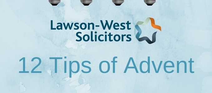 Lawson-West's 12 Tips of Advent #11
