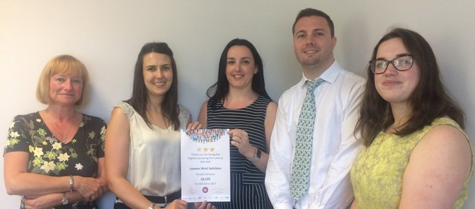Law Firm named in list of the highest achievers for national charity campaign