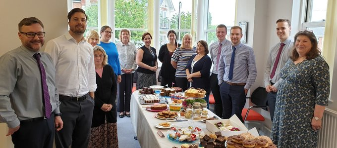 Lawson-West supports Alzheimer's Society with cake bake sale 13 June 2019