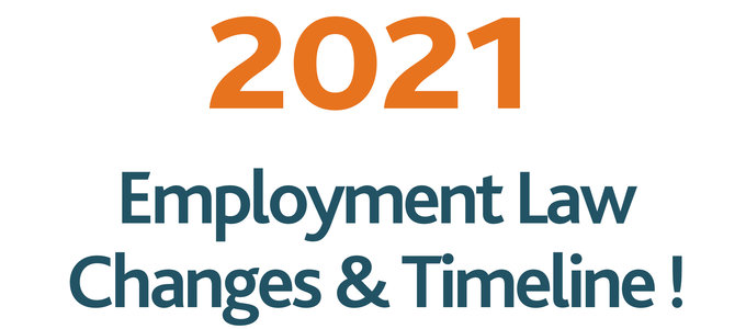 Employment Law and 2021 – A Timeline of Key Changes